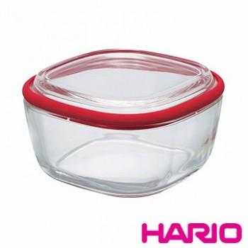 【HARIO】Range ware紅色方形耐熱玻璃保鮮盒M / CWK-M-R