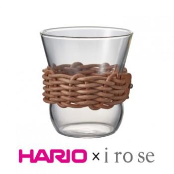 【HARIO x i ro se】棕色皮革藤編咖啡杯300ml HCF-8-LZN