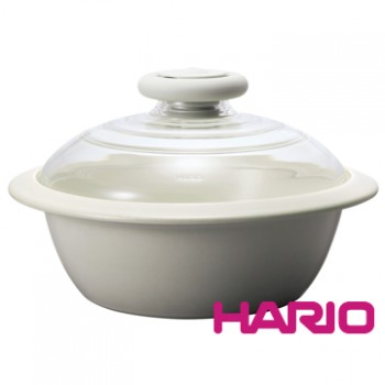 【HARIO】IH電磁爐土鍋經典白2000ml MNI-225KW