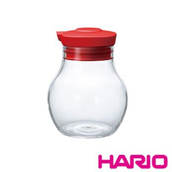 【HARIO】酒紅按壓式調味罐120 OMPS-120-R 120ml
