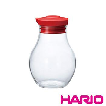 【HARIO】酒紅按壓式調味罐180 OMPS-180-R 180ml