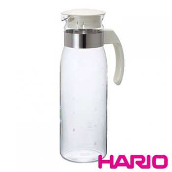 【HARIO】耐熱玻璃冷水壺1400ml 米白 RPLN-14-OW