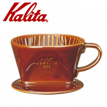 KALITA 101系列傳統陶製三孔濾杯(典雅棕)  #01003