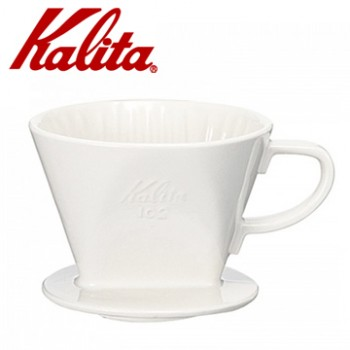 KALITA 102系列傳統陶製三孔濾杯(簡約白)  #02001