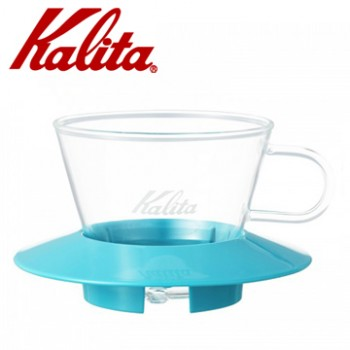 KALITA 155系列蛋糕型玻璃濾杯(薄荷綠)  #05063