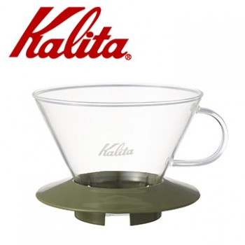 KALITA 185系列蛋糕型玻璃濾杯(迷彩綠)4人份 #05110