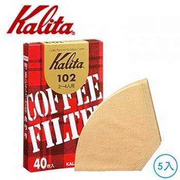 Kalita 無漂白102盒裝濾紙 5盒 #13143