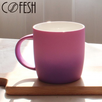 COFESH 時尚半手作粉紫雙色漸層馬克杯350ml MUG-35-PP