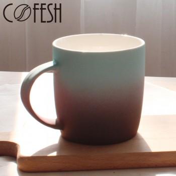 COFESH 時尚半手作咖啡雙色漸層馬克杯350ml MUG-35-SC