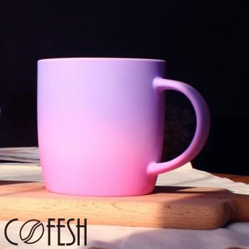 COFESH 時尚半手作藍紫雙色漸層馬克杯350ml MUG-35-SG