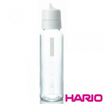 HARIO 簡約按壓式白色調味罐240ml ODB-240-PGR