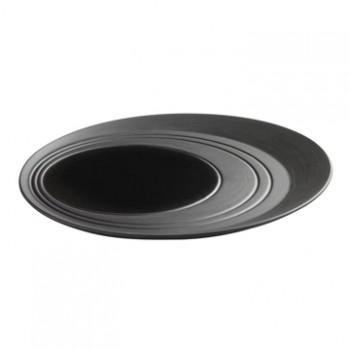 法國 REVOL B&C 陶瓷圓形取盤 黑 28cm