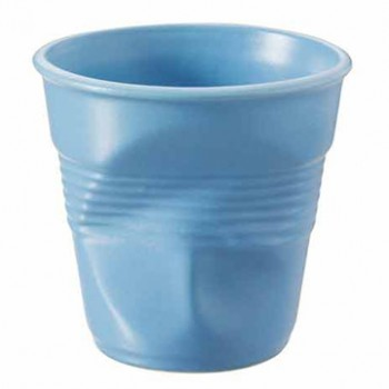 法國 REVOL FRO 灰藍色 陶瓷皺折杯 80cc