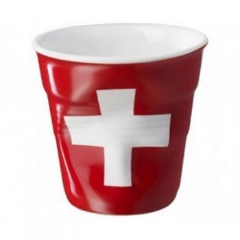 法國 REVOL FRO 瑞士國旗陶瓷皺折杯 80cc