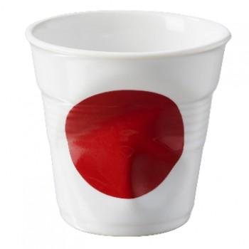法國 REVOL FRO 日本國旗陶瓷皺折杯 80cc