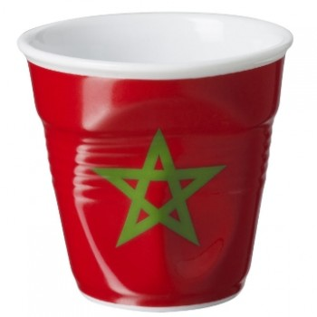 法國 REVOL FRO 摩洛哥國旗陶瓷皺折杯 80cc