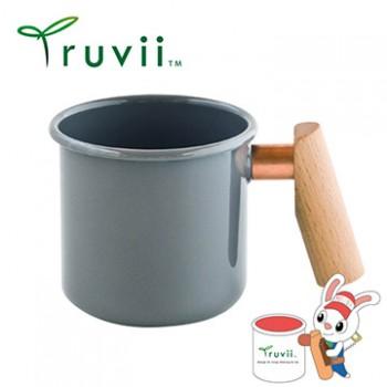 Truvii 大象灰木柄琺瑯杯 400ml